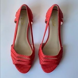 SEYCHELLES coral open toed flat